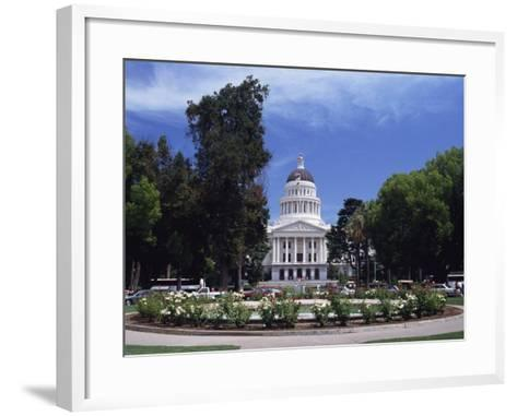 Exterior of the State Capitol Building, Built in 1874, Sacramento, California, USA-Traverso Doug-Framed Art Print