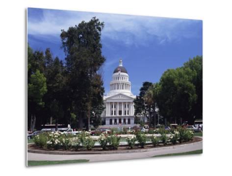 Exterior of the State Capitol Building, Built in 1874, Sacramento, California, USA-Traverso Doug-Metal Print