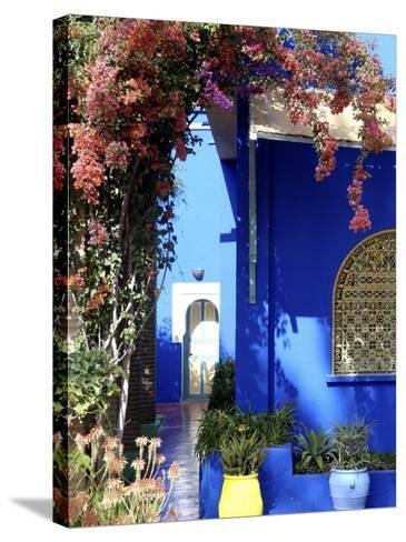 Majorelle Garden, Restored by the Couturier Yves Saint-Laurent, Marrakesh, Morocco-De Mann Jean-Pierre-Stretched Canvas Print
