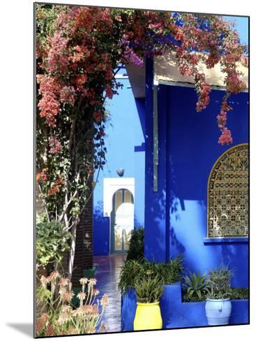 Majorelle Garden, Restored by the Couturier Yves Saint-Laurent, Marrakesh, Morocco-De Mann Jean-Pierre-Mounted Photographic Print