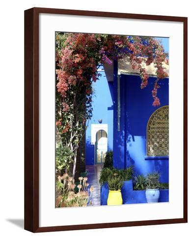 Majorelle Garden, Restored by the Couturier Yves Saint-Laurent, Marrakesh, Morocco-De Mann Jean-Pierre-Framed Art Print