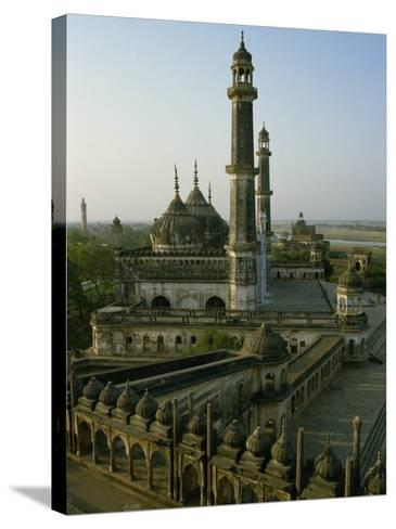 Mosque in Grounds of the Bara Imambara, Lucknow, India-John Henry Claude Wilson-Stretched Canvas Print
