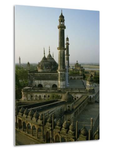 Mosque in Grounds of the Bara Imambara, Lucknow, India-John Henry Claude Wilson-Metal Print