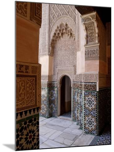 Medersa Ben Youssef, Medina, Marrakesh, Morroco-De Mann Jean-Pierre-Mounted Photographic Print