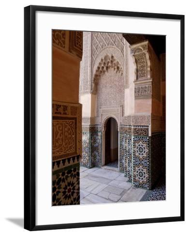 Medersa Ben Youssef, Medina, Marrakesh, Morroco-De Mann Jean-Pierre-Framed Art Print