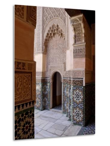 Medersa Ben Youssef, Medina, Marrakesh, Morroco-De Mann Jean-Pierre-Metal Print