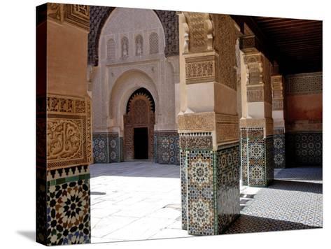 Medersa Ben Youssef, Medina, Marrakesh, Morroco-De Mann Jean-Pierre-Stretched Canvas Print