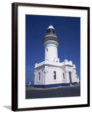 Exterior of Byron Bay Lighthouse at Byron Bay, New South Wales, Australia, Pacific-Wilson Ken-Framed Art Print