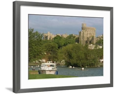 Windsor Castle and River Thames, Berkshire, England, United Kingdom, Europe-Woolfitt Adam-Framed Art Print