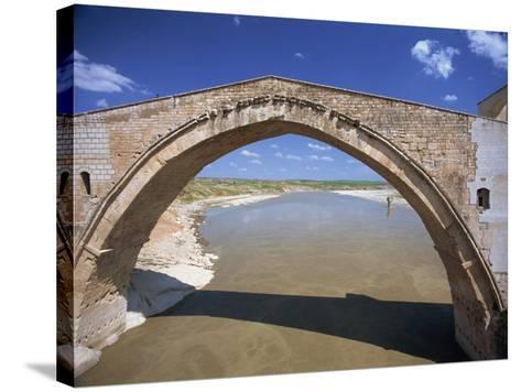 Single Arch of the Malabadi Bridge across the Batman River, Kurdistan Area of Anatolia, Turkey-Woolfitt Adam-Stretched Canvas Print