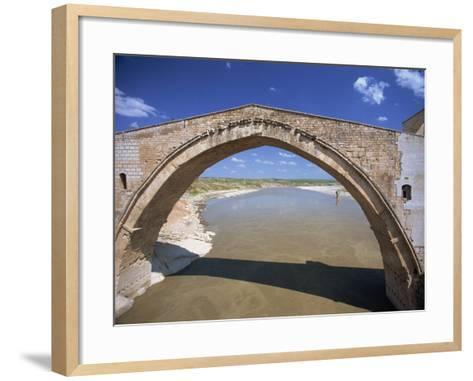 Single Arch of the Malabadi Bridge across the Batman River, Kurdistan Area of Anatolia, Turkey-Woolfitt Adam-Framed Art Print