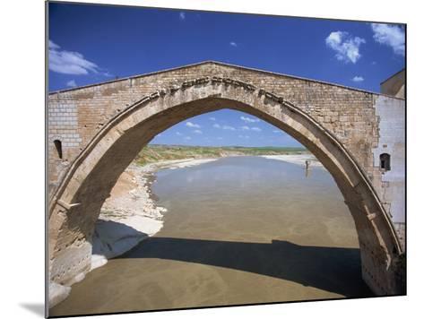 Single Arch of the Malabadi Bridge across the Batman River, Kurdistan Area of Anatolia, Turkey-Woolfitt Adam-Mounted Photographic Print