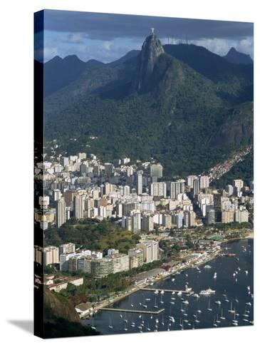 Corcovado Mountain and the Botafogo District of Rio De Janeiro from Sugarloaf Mountain, Brazil-Waltham Tony-Stretched Canvas Print