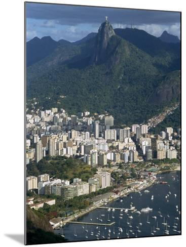 Corcovado Mountain and the Botafogo District of Rio De Janeiro from Sugarloaf Mountain, Brazil-Waltham Tony-Mounted Photographic Print