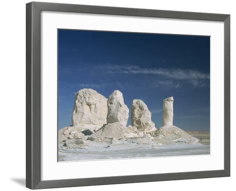 Isolated Chalk Towers, Remnants of Karst, Farafra Oasis, White Desert, Western Desert, Egypt-Waltham Tony-Framed Art Print