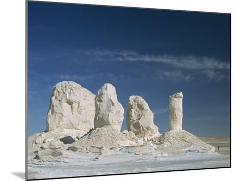 Isolated Chalk Towers, Remnants of Karst, Farafra Oasis, White Desert, Western Desert, Egypt-Waltham Tony-Mounted Photographic Print