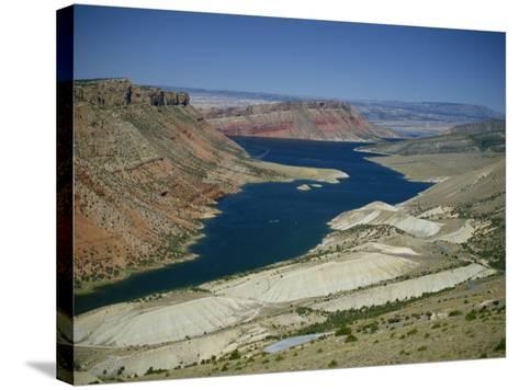 Reservoir on Green River, in the Flaming Gorge National Recreation Area, Utah Wyoming Border, USA-Waltham Tony-Stretched Canvas Print