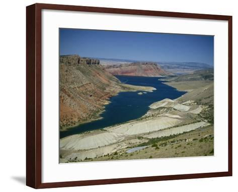 Reservoir on Green River, in the Flaming Gorge National Recreation Area, Utah Wyoming Border, USA-Waltham Tony-Framed Art Print