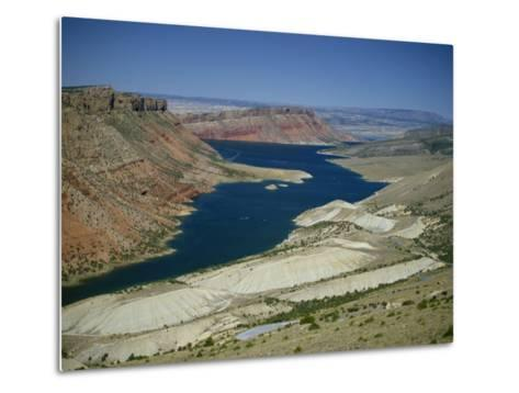 Reservoir on Green River, in the Flaming Gorge National Recreation Area, Utah Wyoming Border, USA-Waltham Tony-Metal Print