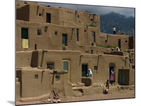 Adobe Buildings of Taos Pueblo, Dating from 1450, UNESCO World Heritage Site, New Mexico, USA-Woolfitt Adam-Mounted Photographic Print
