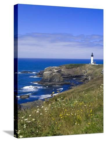 Yaquina Head Lighthouse, Oregon, United States of America, North America-DeFreitas Michael-Stretched Canvas Print