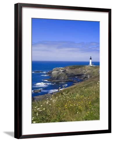 Yaquina Head Lighthouse, Oregon, United States of America, North America-DeFreitas Michael-Framed Art Print
