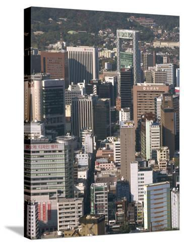 Ulchiro Central Business District, Seoul, South Korea-Waltham Tony-Stretched Canvas Print