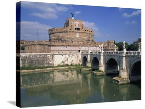 Ponte S Angelo over the River Tevere and the Castel S Angelo in Rome, Lazio, Italy, Europe-Hans Peter Merten-Stretched Canvas Print