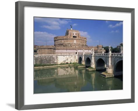 Ponte S Angelo over the River Tevere and the Castel S Angelo in Rome, Lazio, Italy, Europe-Hans Peter Merten-Framed Art Print
