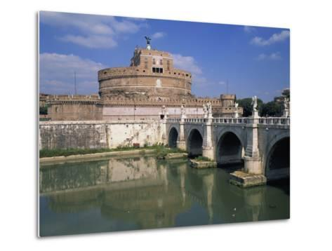 Ponte S Angelo over the River Tevere and the Castel S Angelo in Rome, Lazio, Italy, Europe-Hans Peter Merten-Metal Print