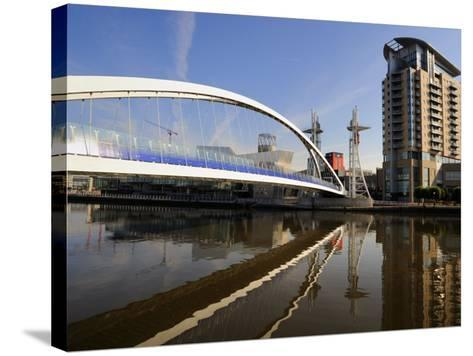 Lowry Bridge over the Manchester Ship Canal, Salford Quays, Greater Manchester, England, UK-Richardson Peter-Stretched Canvas Print