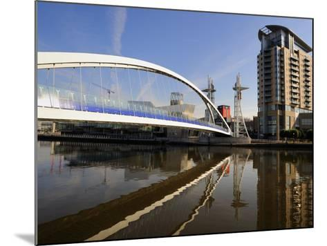 Lowry Bridge over the Manchester Ship Canal, Salford Quays, Greater Manchester, England, UK-Richardson Peter-Mounted Photographic Print