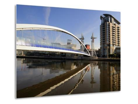 Lowry Bridge over the Manchester Ship Canal, Salford Quays, Greater Manchester, England, UK-Richardson Peter-Metal Print