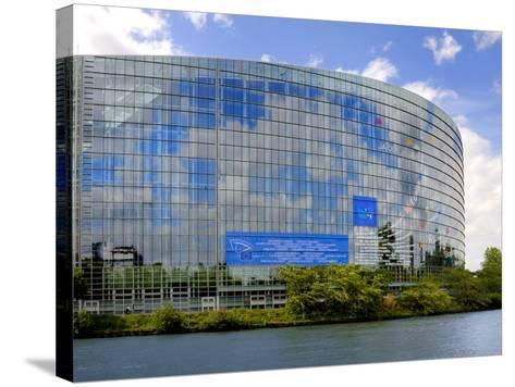 European Parliament, Strasbourg, Alsace, France, Europe-Richardson Peter-Stretched Canvas Print