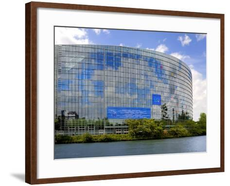 European Parliament, Strasbourg, Alsace, France, Europe-Richardson Peter-Framed Art Print