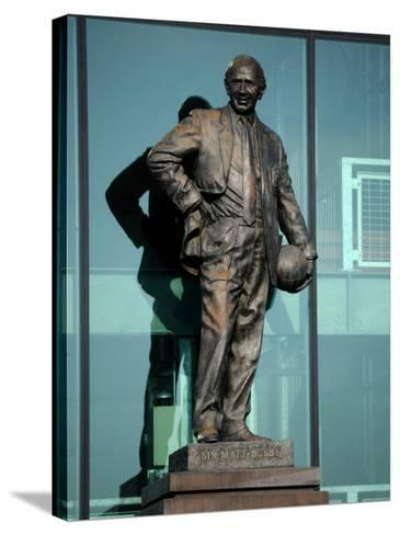 Sir Matt Busby Statue, Manchester United Football Club Stadium, Old Trafford, Manchester, England-Richardson Peter-Stretched Canvas Print