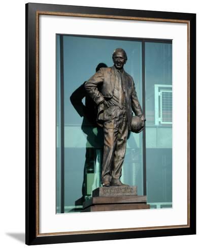 Sir Matt Busby Statue, Manchester United Football Club Stadium, Old Trafford, Manchester, England-Richardson Peter-Framed Art Print