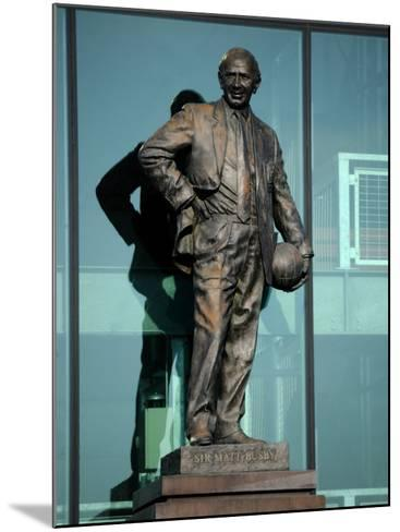 Sir Matt Busby Statue, Manchester United Football Club Stadium, Old Trafford, Manchester, England-Richardson Peter-Mounted Photographic Print