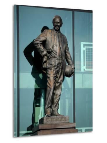 Sir Matt Busby Statue, Manchester United Football Club Stadium, Old Trafford, Manchester, England-Richardson Peter-Metal Print