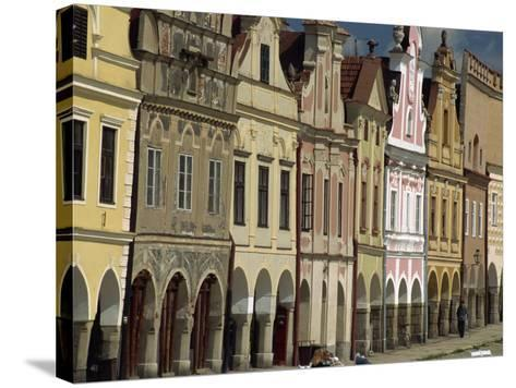 Facades on the 16th Century Town Square in the Town of Telc, South Moravia, Czech Republic-Strachan James-Stretched Canvas Print