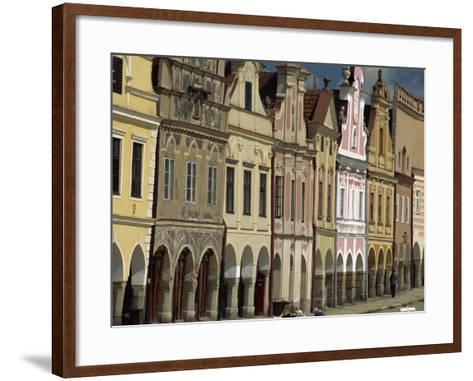Facades on the 16th Century Town Square in the Town of Telc, South Moravia, Czech Republic-Strachan James-Framed Art Print