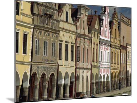 Facades on the 16th Century Town Square in the Town of Telc, South Moravia, Czech Republic-Strachan James-Mounted Photographic Print