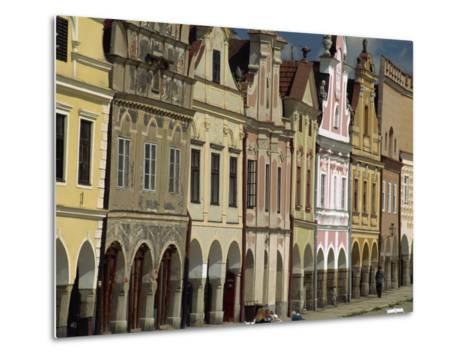 Facades on the 16th Century Town Square in the Town of Telc, South Moravia, Czech Republic-Strachan James-Metal Print