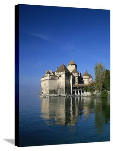 Chateau De Chillon on Lake Geneva, Switzerland, Europe--Stretched Canvas Print