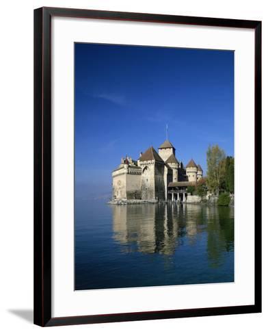 Chateau De Chillon on Lake Geneva, Switzerland, Europe--Framed Art Print