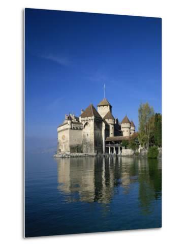 Chateau De Chillon on Lake Geneva, Switzerland, Europe--Metal Print