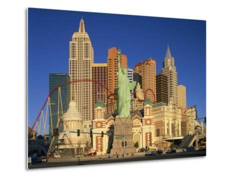 New York New York Hotel in Las Vegas, Nevada, United States of America, North America--Metal Print
