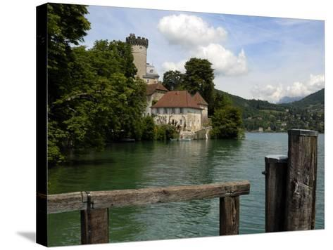 Chateau at Duingt, Lake Annecy, Annecy, Rhone Alpes, France, Europe-Richardson Peter-Stretched Canvas Print