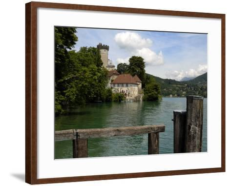 Chateau at Duingt, Lake Annecy, Annecy, Rhone Alpes, France, Europe-Richardson Peter-Framed Art Print