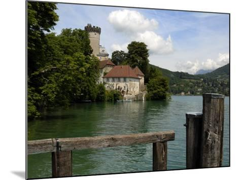 Chateau at Duingt, Lake Annecy, Annecy, Rhone Alpes, France, Europe-Richardson Peter-Mounted Photographic Print